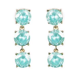 3 Tier Brilliant Jewel Earrings