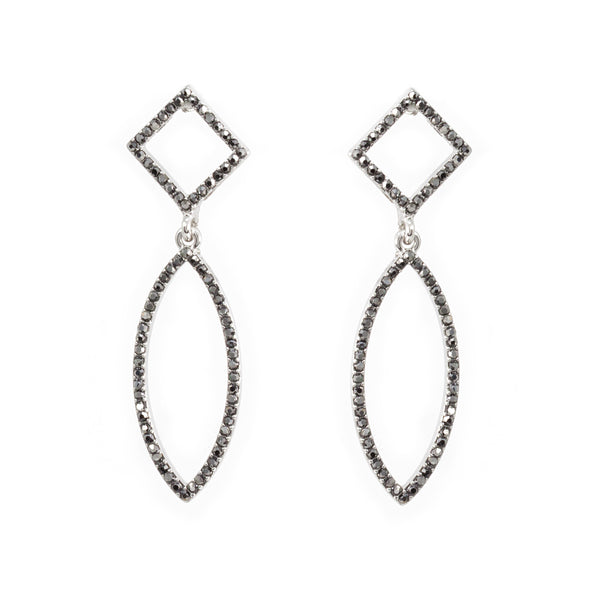 Shapes Pave Statement Earrings