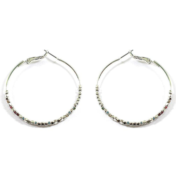 Dainty Beaded Hoops