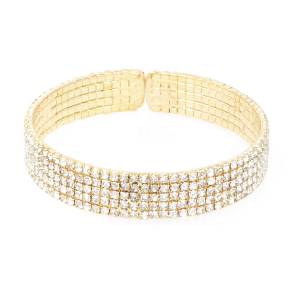 Dimaonds Stmt Stretch Bangle