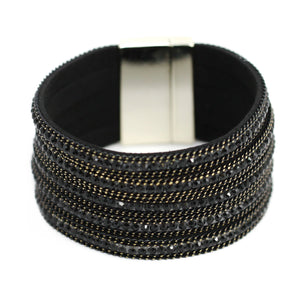 Diamond & Chain Layered Cuff