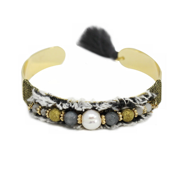 Bead & Fringe Bangle BL