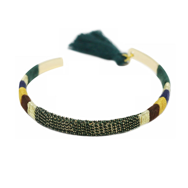 Chain & Thread Wrapped Bangle