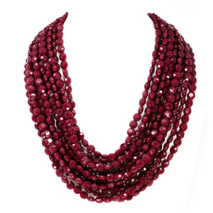 Crystal Cut Layered Statement Necklace