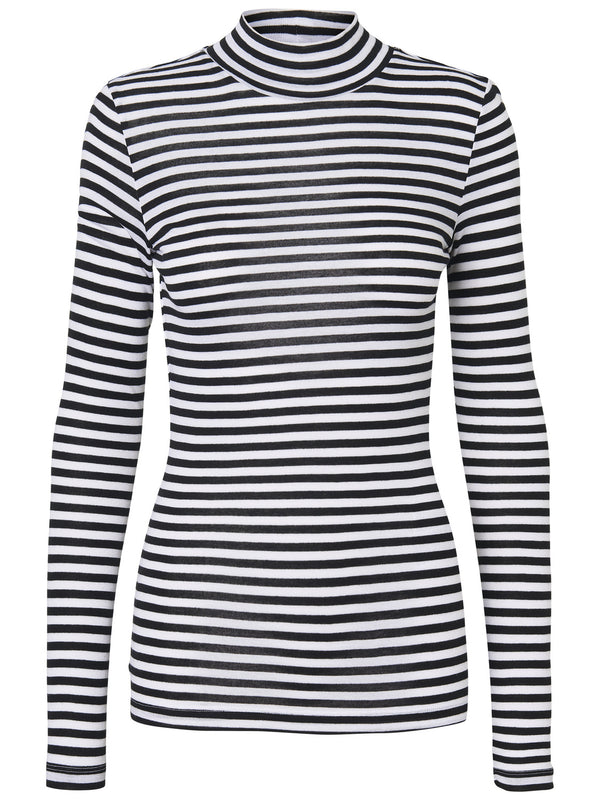 Vita Stripe High Neck Top