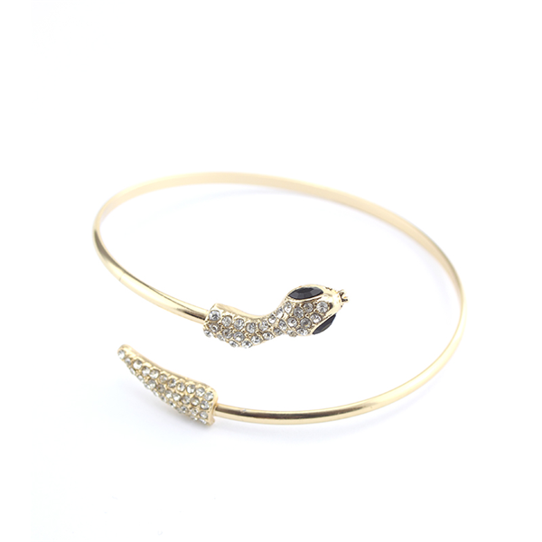 Diamond Snake Bangle Bracelet