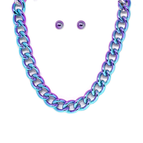 Dip Dye Links Necklace