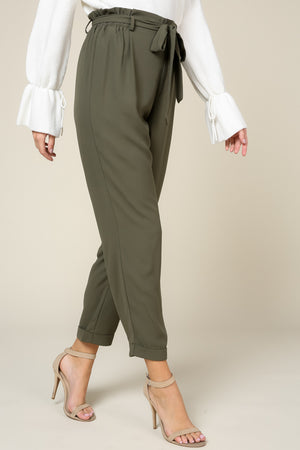 Self-Tie Ankle Trouser