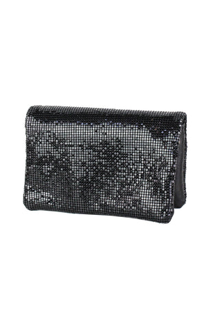 Sequin Mesh Clutch with Crossbody Strap