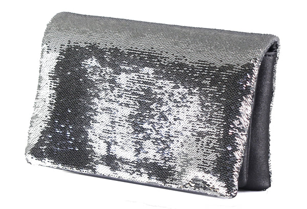 Mini Sequins Clutch with Crossbody Strap