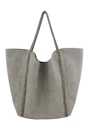 Distressed Chain Tote
