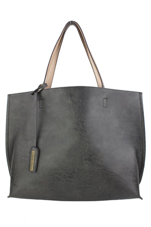 TEXTURED REVERSIBLE TOTE