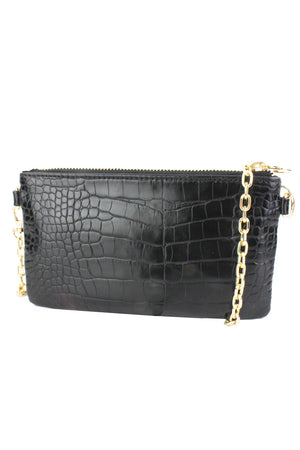 Mini Embossed Bag With Crossbody Chain Strap