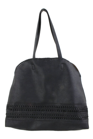 STITCHED OVAL TOTE