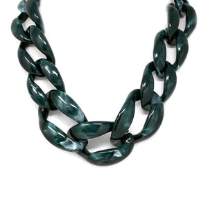 Oversized Enamel Links Necklace