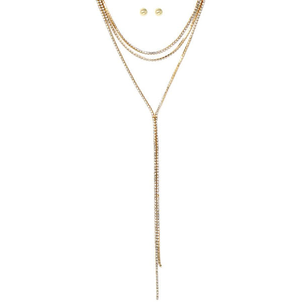 Wrap Diamonds Lariate Necklace