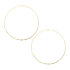 Diamond Cut Delicate Hoop Earrings
