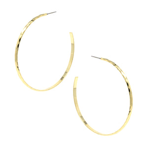 Diamond Cut Open Hoop ERs