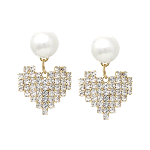 Pearl with Diamond Chandelier ERs