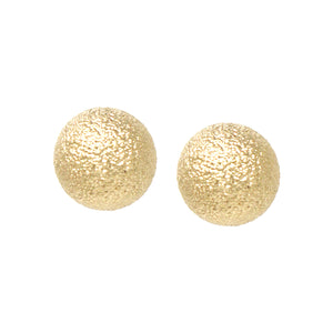 Large Metallic Drop Stud Earrings