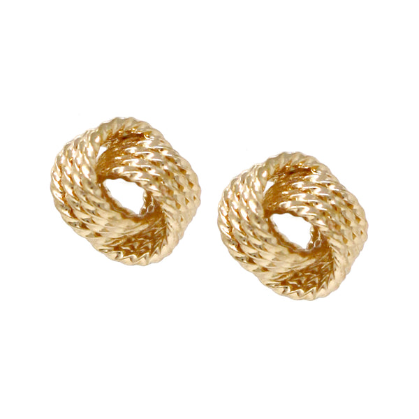 Basketweave Knot Stud Earrings