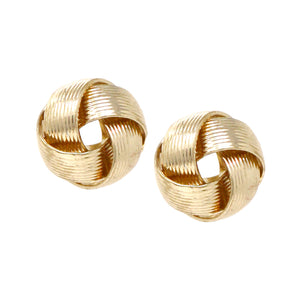 Traditional Knot Stud Earrings