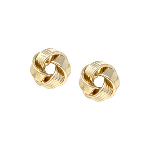 Heavy Knot Stud Earrings