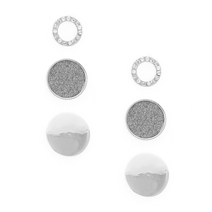 Shiny Disc Stud Earrings