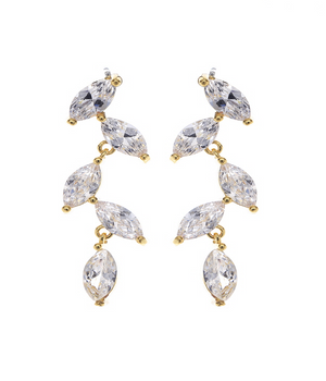 Dripping Solitaires Earrings