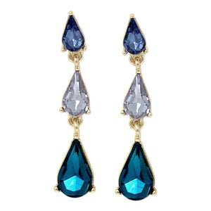 Tiered Crystal Drops Statement Earrings