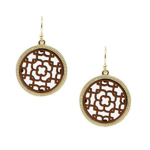 Lattice Circle Earrings