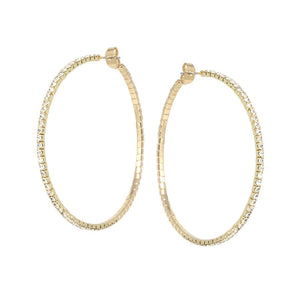 Dainty Diamond Hoops Small