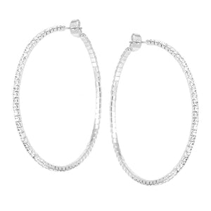 Dainty Diamond Hoops Medium