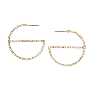 G-Diamond Hoop Earrings