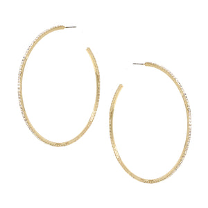 Dainty Diamond Open Back Hoop ER