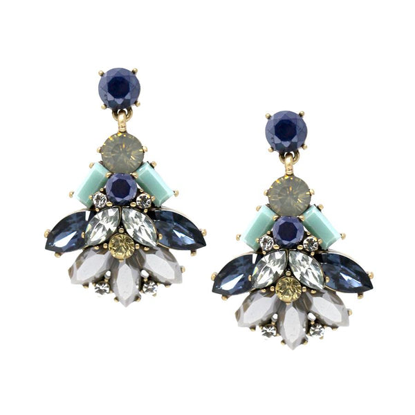 Jeweled Bug Drop Earrings