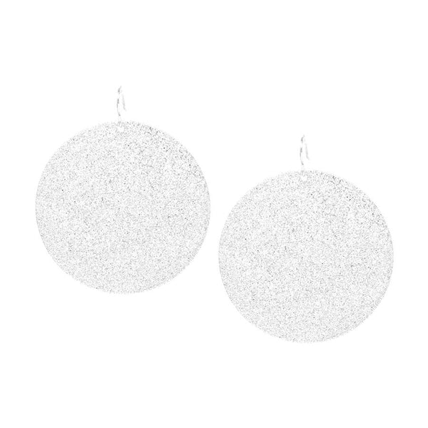 Sparkle Disc Moon Earrings
