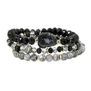 Druze & Crystals Stretch Bracelet