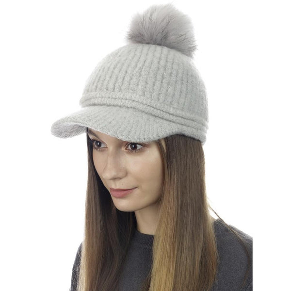 Pom Knit Baseball Hat