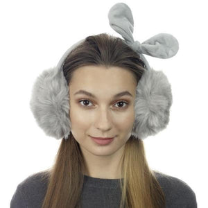Faux Fur Bow Earmuffs