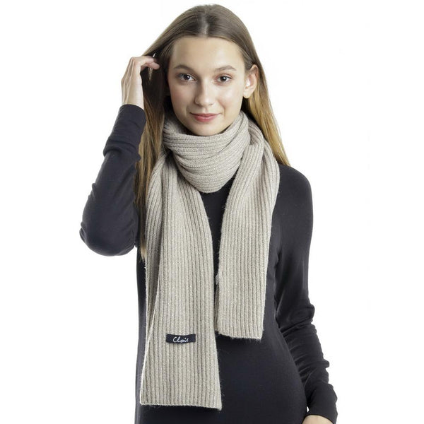 Sparkle Knit Ribbed Scarf