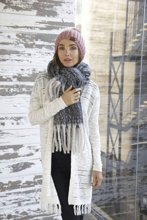 Blanket Scarf with Fringe