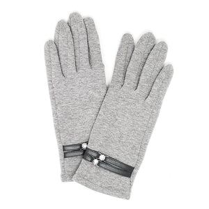 Double Band Diamond Fitted Gloves