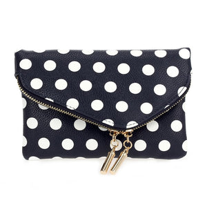 Angled Flap Dots Crossbody