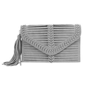 Web-stitched Envelope Clutch