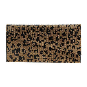 Leopard Crystal Clutch