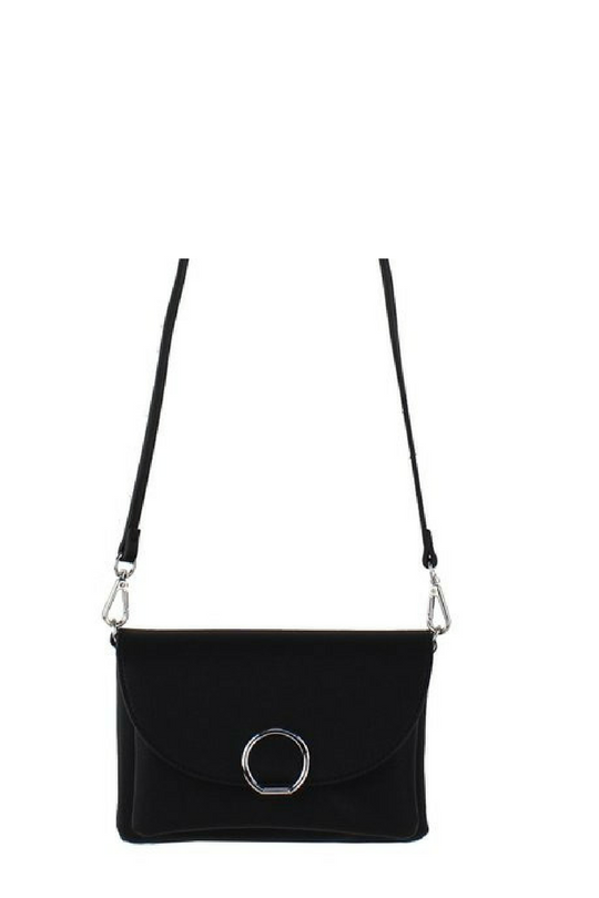 CROSSBODY BAG WITH RING CLOSURE