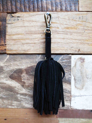Bag Charm - Suede Fringe Ball