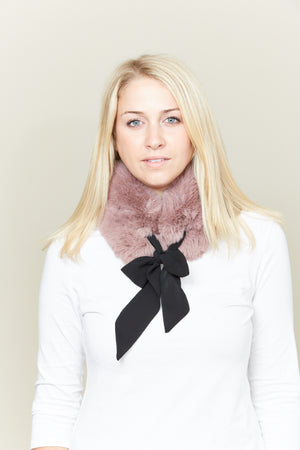 Faux Fur Ribbon Collar