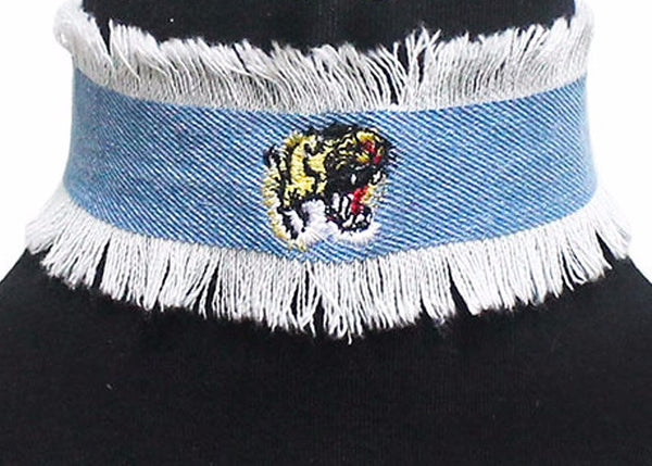 Frayed Tiger Choker